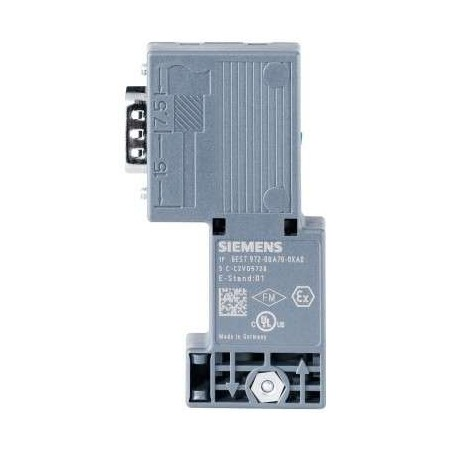 6ES7 972-0BA70-0XA0 Siemens DP, BUS CONNECTOR FOR PROFIBUS UP TO 12 MBIT/S 90 DEGREE ANGLE CABLE OUTLET